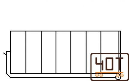 33 m 3 Konteineris, kablio tipo konteineris, hooklift konteineris, konteineris zvyrui, konteineris akmenims, konteineris smeliui, kebulas, kuzavas, platforma, 40t sunkioji technika3
